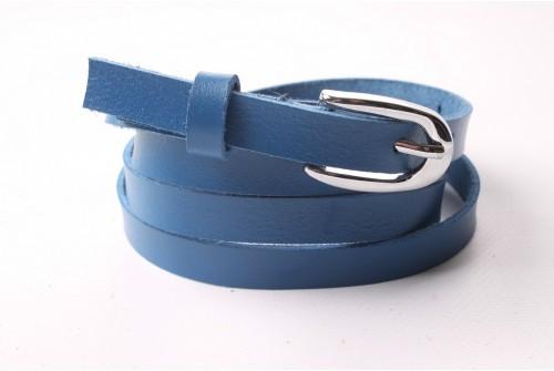 Ремень женский кожаный (Синий) Andi