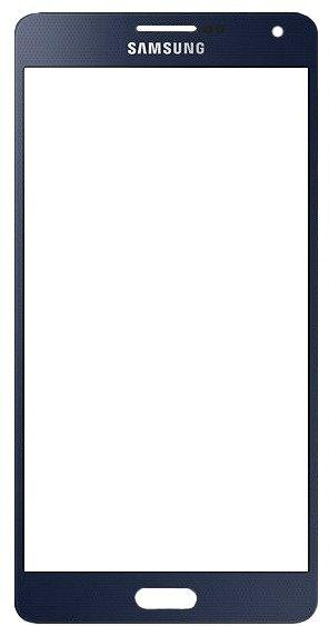 Корпусное стекло дисплея Samsung Galaxy A7 A700 Black