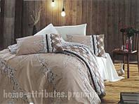 Комплект постельного белья сакура бежевый Бязь