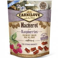 Carnilove Dog Crunchy Snacks Mackerel with Raspberries Лакомство для собак скумбрия, малина, 200г