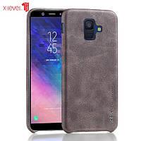 Кожаный чехол X-Level Vintage для Samsung Galaxy A8 Plus 2018