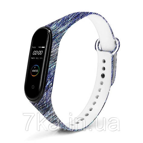 Браслет для Xiaomi Mi Band 3 / 4 Blue Lines, фото 2
