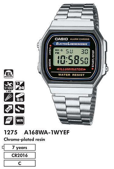 Часы CASIO A-168WA-1W