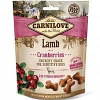 Carnilove Dog Crunchy Snacks Lamb with Cranberries Лакомство для собак ягненок, клюква, 200г