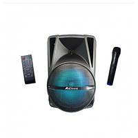 """Акустическая система аккумуляторная Bluetooth колонка 12"""" радио микрофон USB FM Ailiang UF-AR-12QK- DT"""