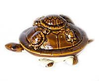 Черепаха с черепашками керамическая (шевелит лапками) (16х10х7,5 см)