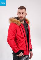 Чоловіча осіння куртка Kepler Fur Red