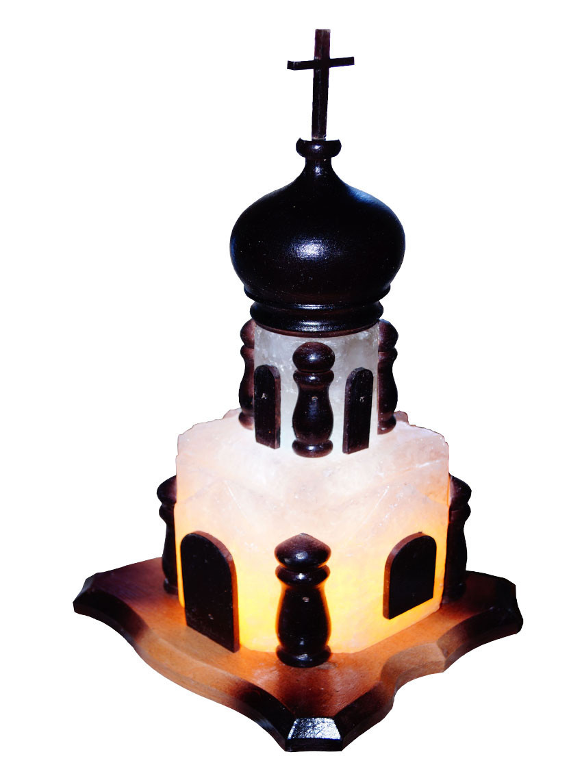 """Соляная лампа """"Церковь"""" 15-18 кг (Украина)"""