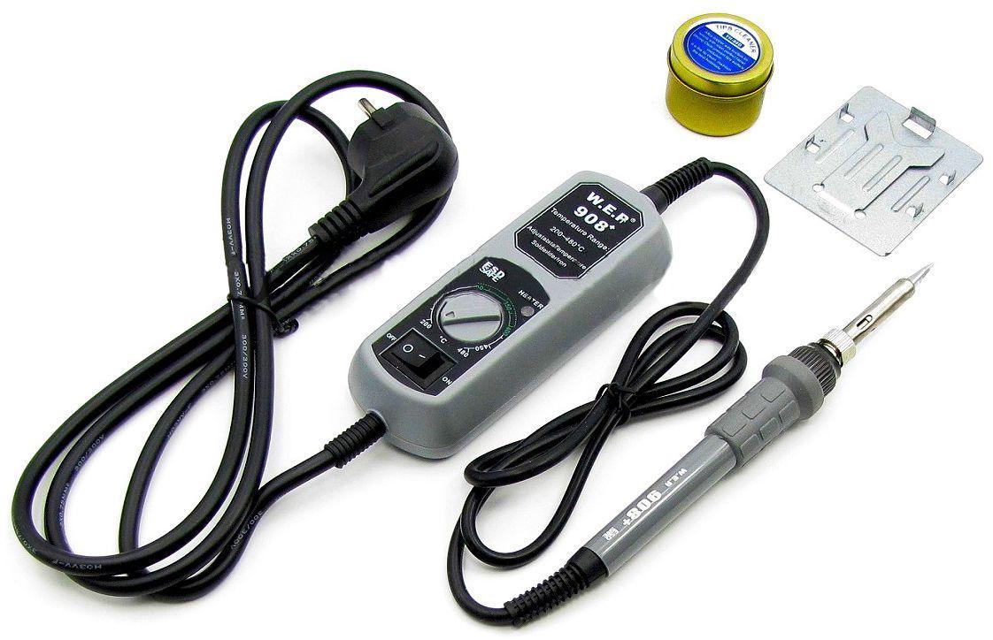 Паяльник электрический WEP 908  (нихромовый, 65Вт, 480°C, жала 900М)