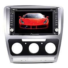✖Переходная рамка Lesko для Skoda Octavia N3758 Silver 2013 г.в. рамка для штатных автомагнитол