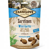 Carnilove Dog Semi-Moist Sardines with Wild Garlic Лакомство для собак сардина, чеснок, 200г