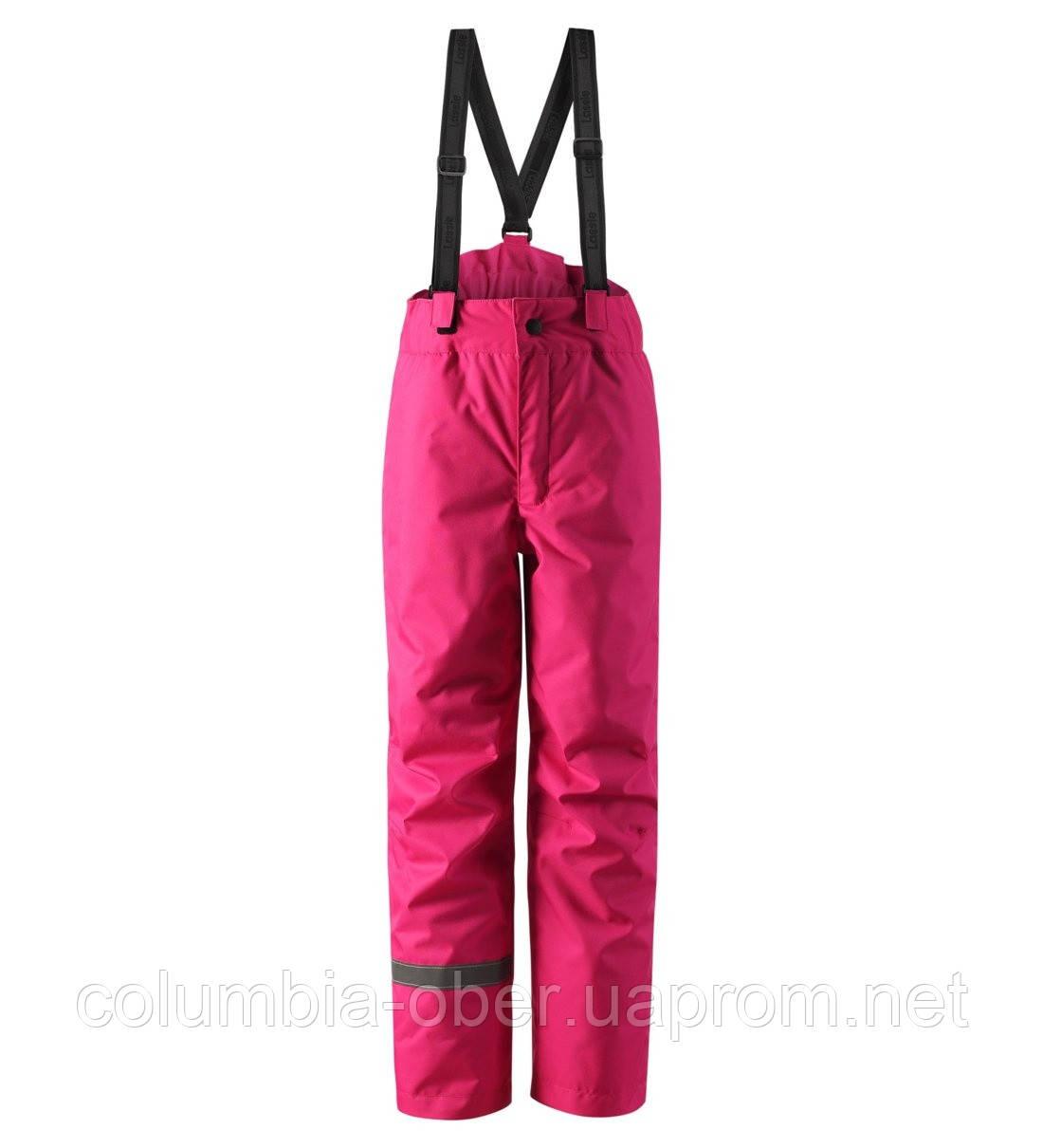 Зимние штаны на подтяжках для девочки Lassie by Reima Taila 722733.9-4690. Размеры 92 - 122.