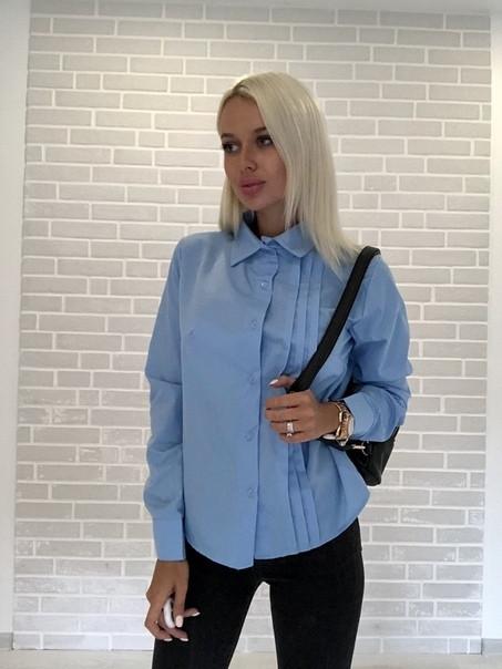 Женская рубашка с манжетами