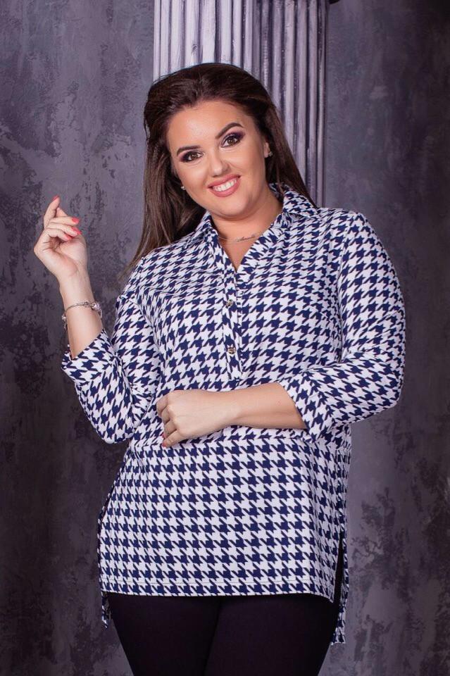 Рубашка женская стильная большого размера