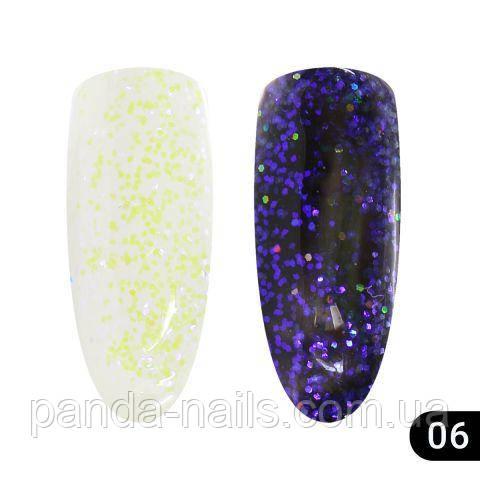 Glitter gel хамелеон Global Fashion # 06