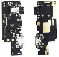 Шлейф Xiaomi Redmi Note 5 нижняя плата с разъемом зарядки, наушников и микрофоном