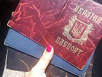 Обложка на паспорт под кожу (герб золото)