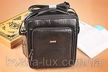 Мужская сумка вместительная из натуральной кожи, Италия, фото 3