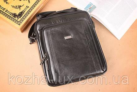 Мужская сумка вместительная из натуральной кожи, Италия, фото 2