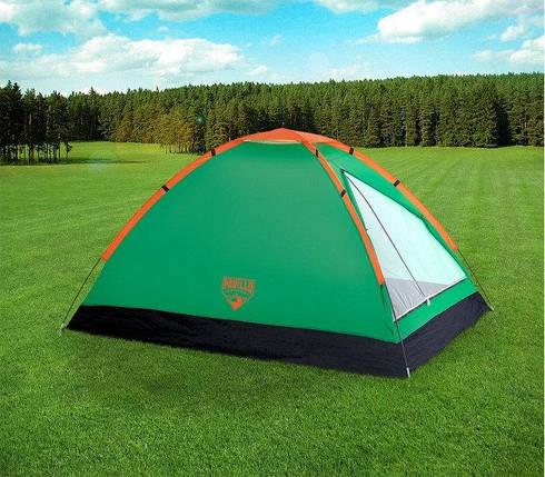 Палатка туристическая 68040 SH BESTWAY Зеленая двухместная палатка с антимоскитной сеткой для похода в сумке, фото 2