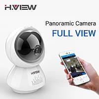 Беспроводная IP камера панорамная H.VIEW VR180 2МП WiFi, ночная съемка, датчик движения, фото 1