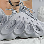 Мужские кроссовки Adidas Yeezy 451 (серые), фото 4