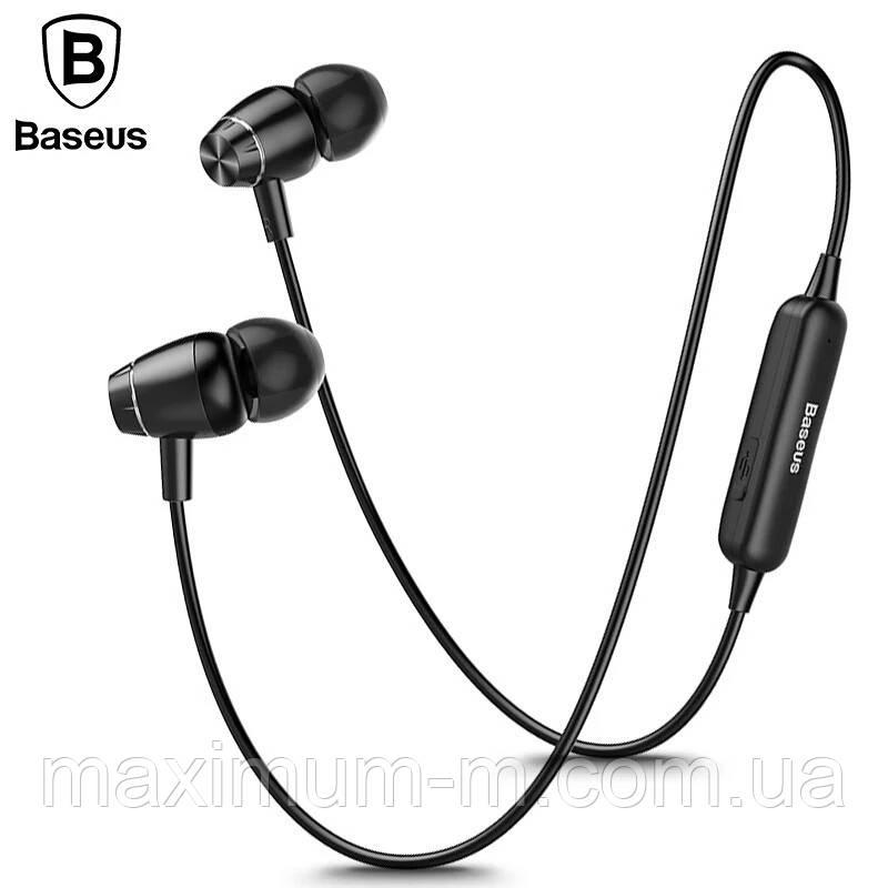 Оригінальні Bluetooth навушники гарнітура Baseus Encok S09 Red - фото 2
