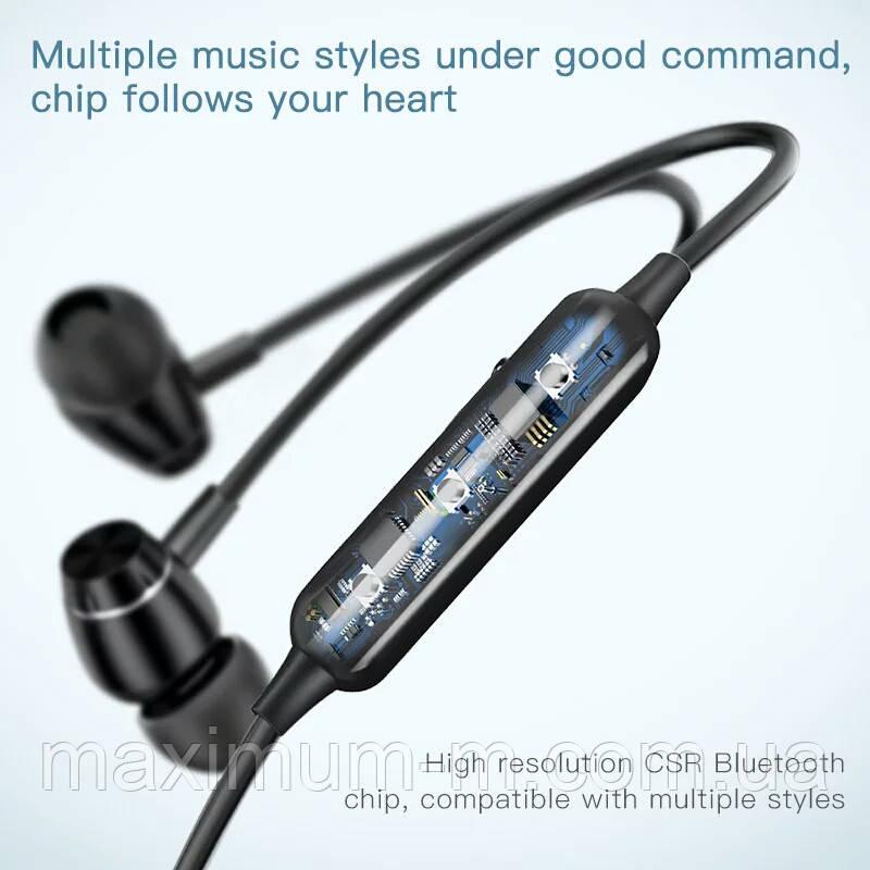 Оригінальні Bluetooth навушники гарнітура Baseus Encok S09 Red - фото 4