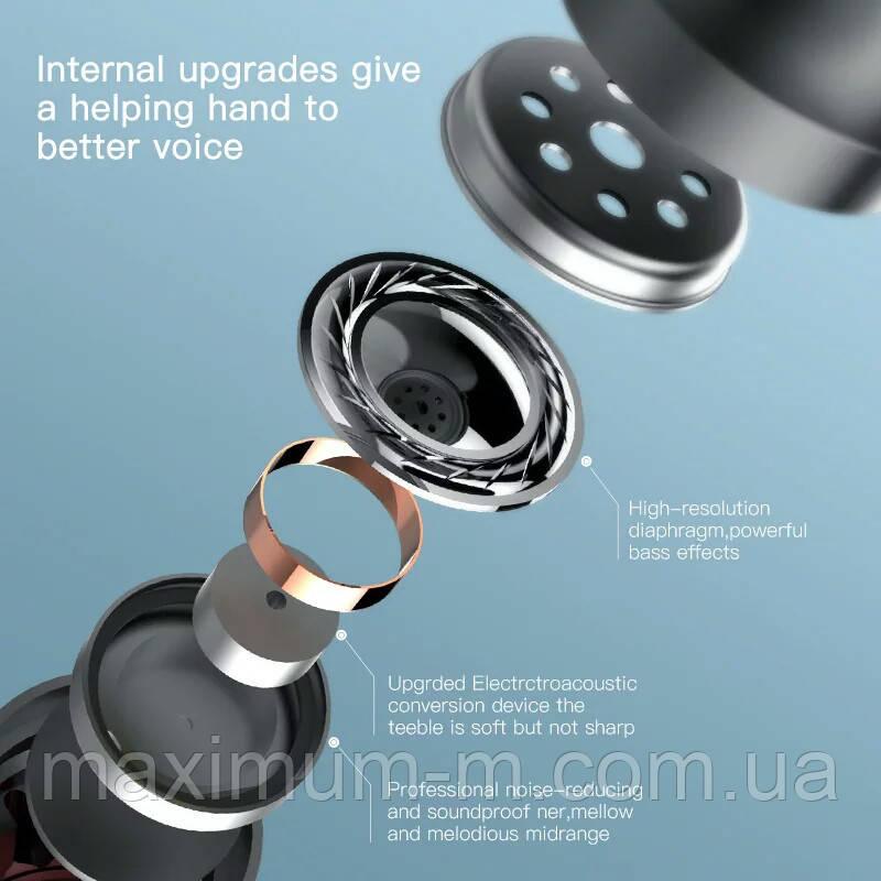 Оригінальні Bluetooth навушники гарнітура Baseus Encok S09 Red - фото 6