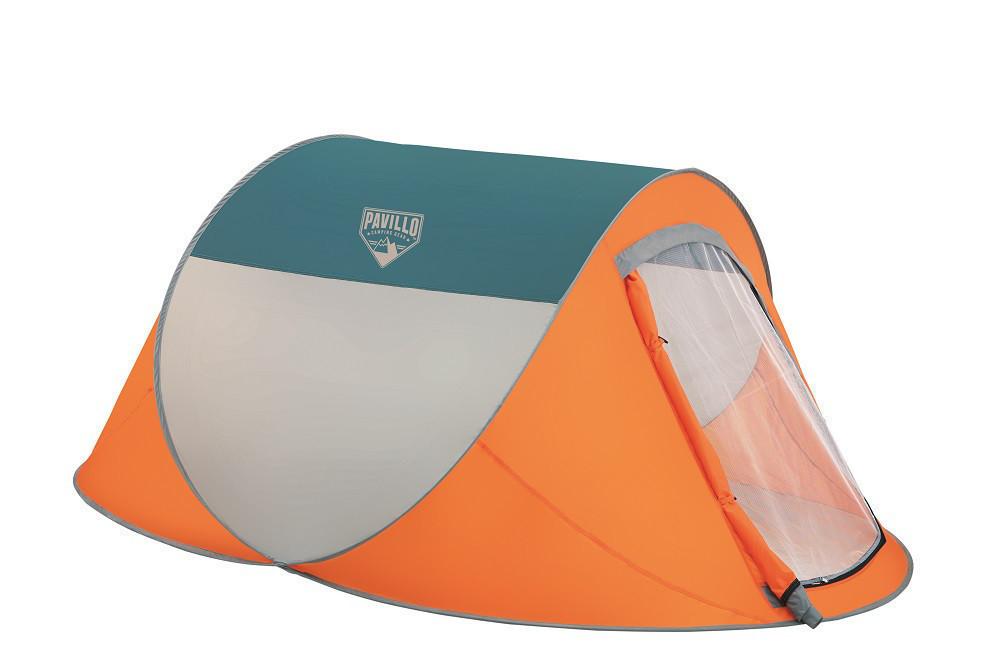 Палатка Туристическая  68004 SH BESTWAY Оранжевая двухместная палатка с антимоскитной сеткой для похода