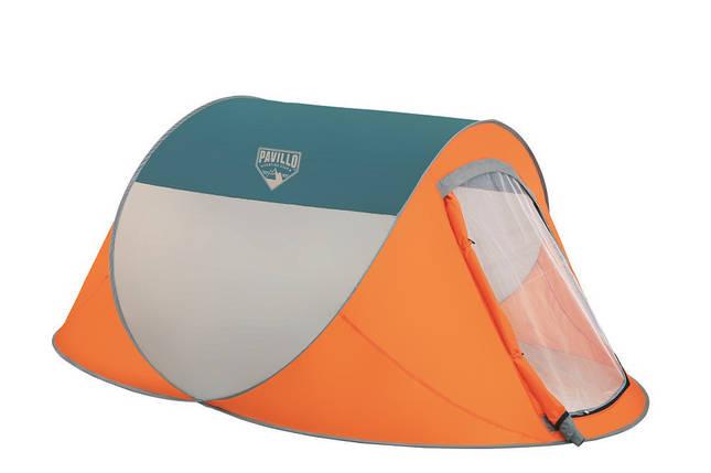 Палатка Туристическая  68004 SH BESTWAY Оранжевая двухместная палатка с антимоскитной сеткой для похода, фото 2