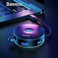 Baseus Round Box HUB адаптер USB 2.0, USB 3.0 C30A-03, фото 1