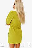 Повседневное короткое платье с объемным рукавом желтое, фото 4