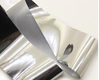 Переводная фольга для дизайна ногтей серебро 1метр