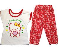 """Комплект футболка и штаны """"Hello Kitty"""" детский летний для девочек от 1 до 3х лет (100% хлопок)"""