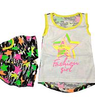"""Комплект майка и шорты """"STARS"""" детский летний для девочек 2-3 года (100% хлопок)"""