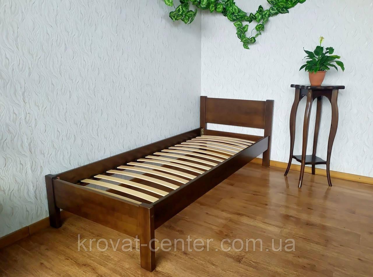 """Односпальная кровать из массива натурального дерева """"Эконом"""" (80х200) лесной орех"""
