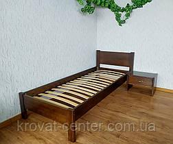 """Односпальная кровать из массива натурального дерева """"Эконом"""" (80х200) лесной орех, фото 2"""