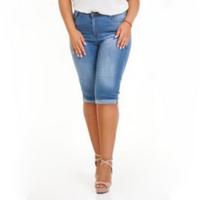 Женские джинсовые шорты, бриджи больших размеров, Турция