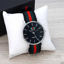 Silver-Black Green-Red