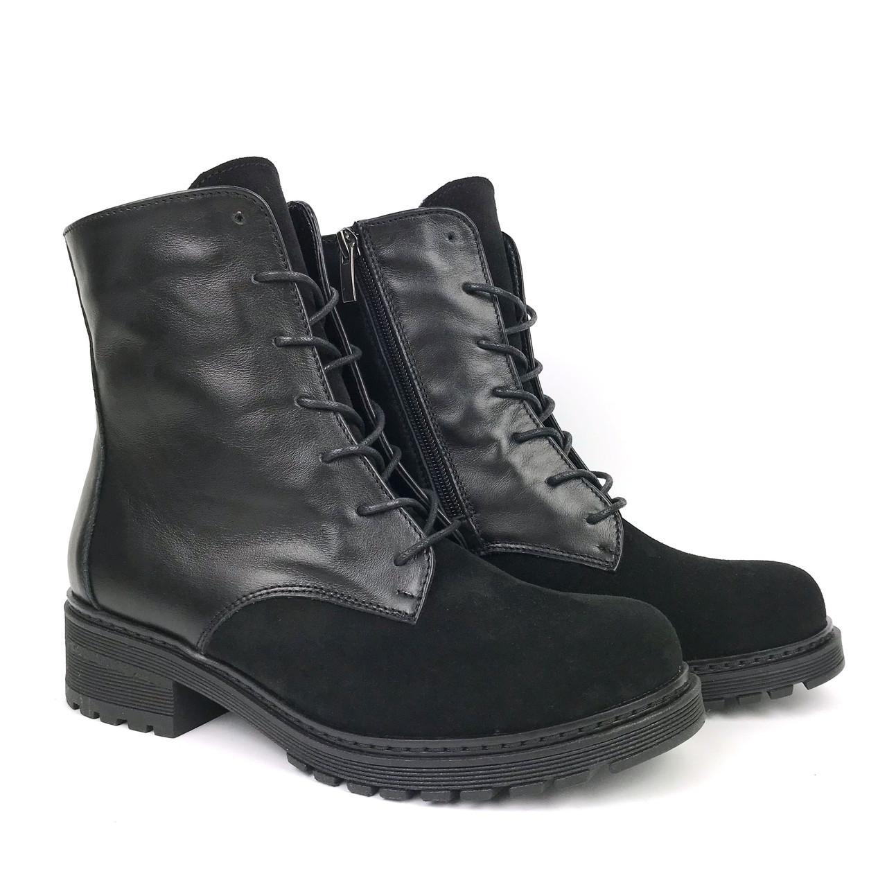 Ботинки черные зимние VUBO