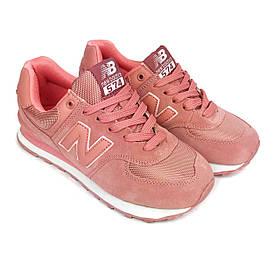 Кроссовки New Balance 574, розовые, LUX-реплика