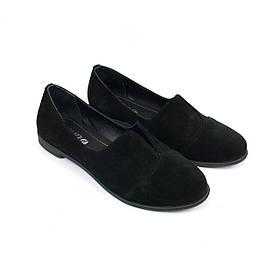 Туфли из черной замши VUBO