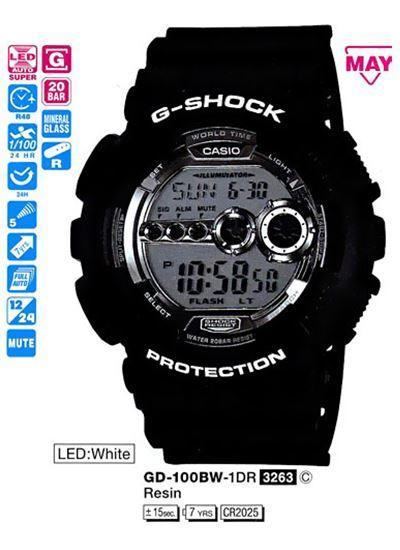 Часы CASIO GD-100BW-1ER