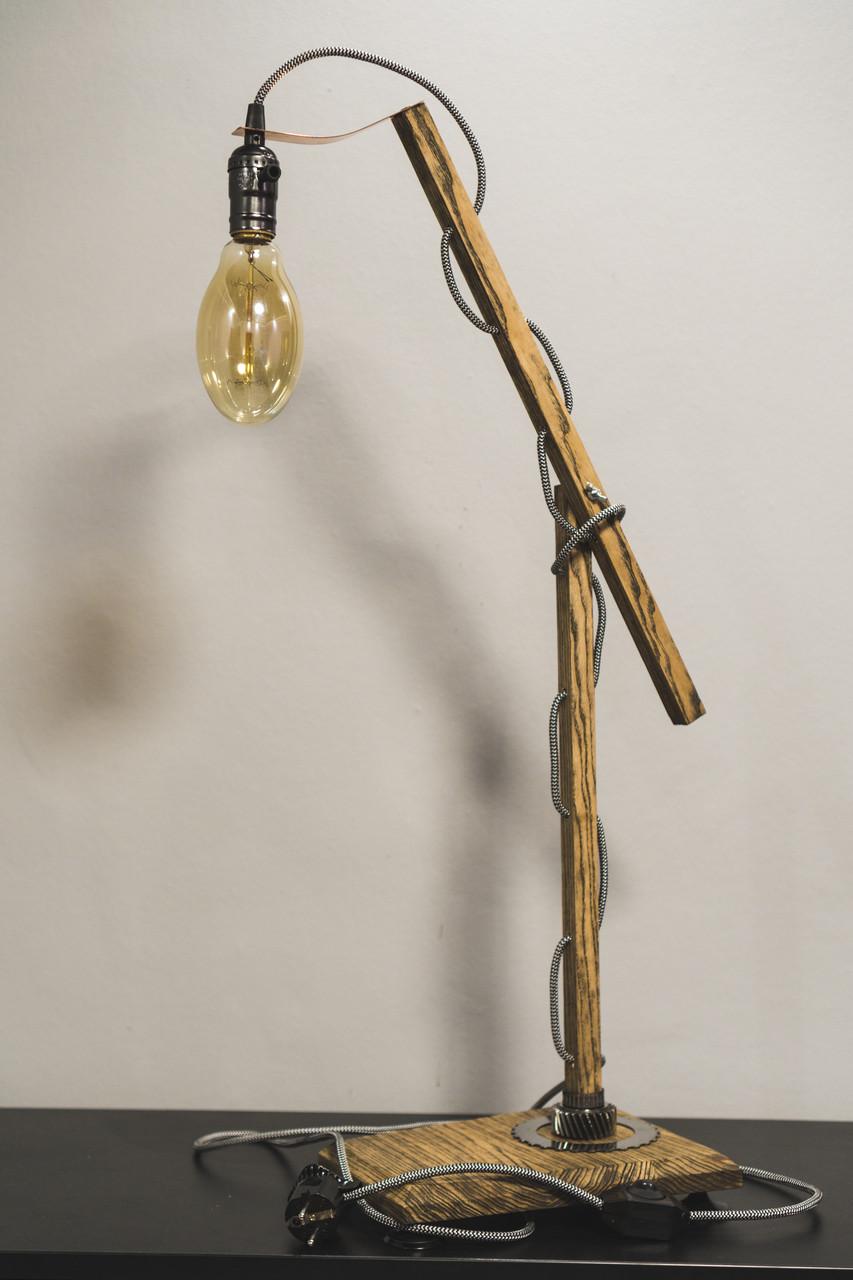 Настільна лампа Pride&Joy із дерева