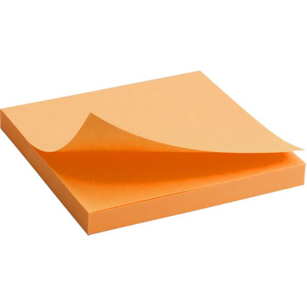 Блок бумаги с клейким шаром75x75мм, 80 л, яскр-оран