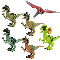 Фигурки Лего Lego Парк Мир Юрского периода Jurassic World Дилофозавр Птеранодоны Велоцираптор