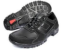 Демисезонные кроссовки мужские прошитые черные, фото 2