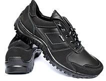 Демисезонные кроссовки мужские прошитые черные, фото 3