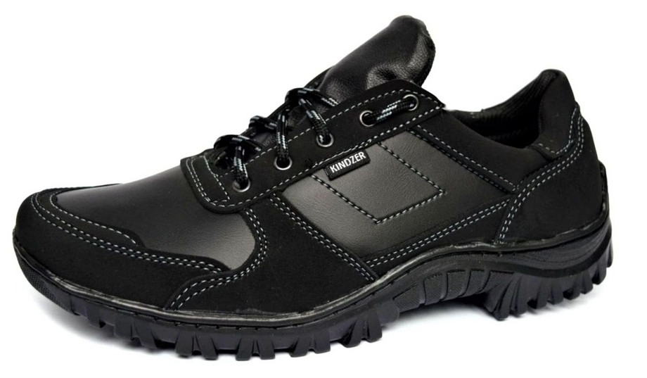 Демисезонные кроссовки мужские прошитые черные